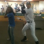 Posing with Derek Jeter at the Louisville Slugger Museum